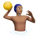Man Playing Water Polo: Medium Skin Tone on Apple iOS 11.1