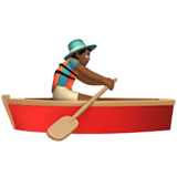 Man Rowing Boat: Medium-Dark Skin Tone on Apple iOS 11.1