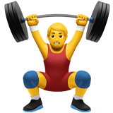 Man Lifting Weights on Apple iOS 11.1