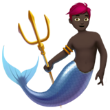 Merman: Dark Skin Tone on Apple iOS 11.1