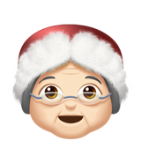 Mrs. Claus: Light Skin Tone on Apple iOS 11.1