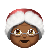 Mrs. Claus: Medium-Dark Skin Tone on Apple iOS 11.1