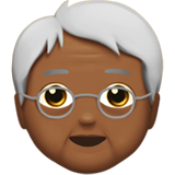Older Person: Medium-Dark Skin Tone on Apple iOS 11.1