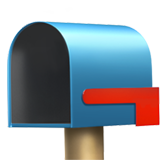 Open Mailbox With Lowered Flag on Apple iOS 11.1