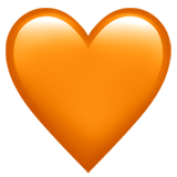 Orange Heart on Apple iOS 11.1