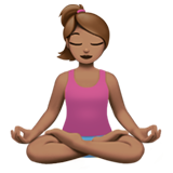 Person in Lotus Position: Medium Skin Tone on Apple iOS 11.1