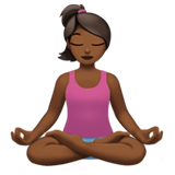 Person in Lotus Position: Medium-Dark Skin Tone on Apple iOS 11.1