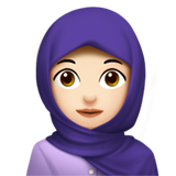 Woman With Headscarf: Light Skin Tone on Apple iOS 11.1