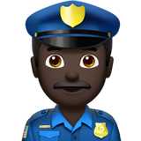 Police Officer: Dark Skin Tone on Apple iOS 11.1