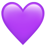 Purple Heart on Apple iOS 11.1