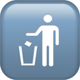 Litter in Bin Sign on Apple iOS 11.1