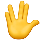 Vulcan Salute on Apple iOS 11.1