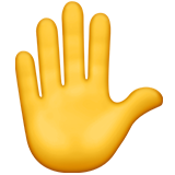 Raised Hand on Apple iOS 11.1