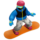 Snowboarder on Apple iOS 11.1