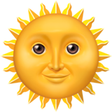 Sun with Face on Apple iOS 11.1