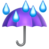 Umbrella With Rain Drops on Apple iOS 11.1