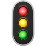 Vertical Traffic Light on Apple iOS 11.1