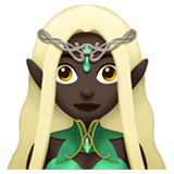 Woman Elf: Dark Skin Tone on Apple iOS 11.1