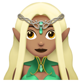 Woman Elf: Medium Skin Tone on Apple iOS 11.1