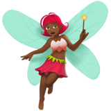 Woman Fairy: Medium-Dark Skin Tone on Apple iOS 11.1