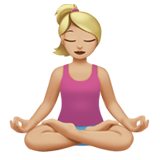 Woman in Lotus Position: Medium-Light Skin Tone on Apple iOS 11.1