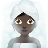 Woman in Steamy Room: Dark Skin Tone on Apple iOS 11.1