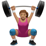 Woman Lifting Weights: Medium Skin Tone on Apple iOS 11.1