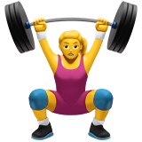 Woman Lifting Weights on Apple iOS 11.1