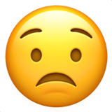 Worried Face on Apple iOS 11.1