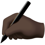 Writing Hand: Dark Skin Tone on Apple iOS 11.1