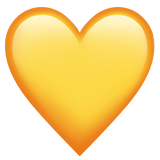Yellow Heart on Apple iOS 11.1