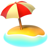 Beach With Umbrella on Apple iOS 11.2