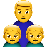 Family: Man, Boy, Boy on Apple iOS 11.2