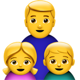 Family: Man, Girl, Boy on Apple iOS 11.2