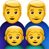 Family: Man, Man, Boy, Boy on Apple iOS 11.2