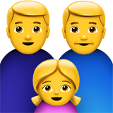 Family: Man, Man, Girl on Apple iOS 11.2