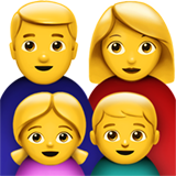 Family: Man, Woman, Girl, Boy on Apple iOS 11.2