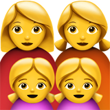 Family: Woman, Woman, Girl, Girl on Apple iOS 11.2