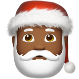 Santa Claus: Medium-Dark Skin Tone on Apple iOS 11.2