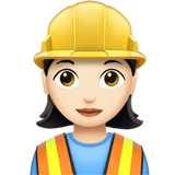 Woman Construction Worker: Light Skin Tone on Apple iOS 11.2