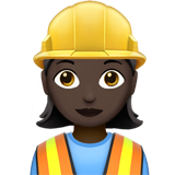 Woman Construction Worker: Dark Skin Tone on Apple iOS 11.2