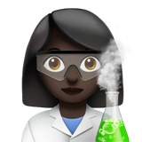 Woman Scientist: Dark Skin Tone on Apple iOS 11.2