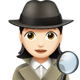 Woman Detective: Light Skin Tone on Apple iOS 11.2