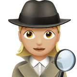Woman Detective: Medium-Light Skin Tone on Apple iOS 11.2