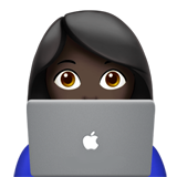 Woman Technologist: Dark Skin Tone on Apple iOS 11.2