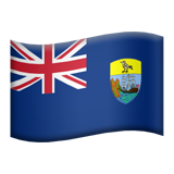Flag: Ascension Island on Apple iOS 11.2