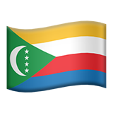 Flag: Comoros on Apple iOS 11.2