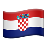 Flag: Croatia on Apple iOS 11.2