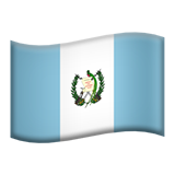 Flag: Guatemala on Apple iOS 11.2