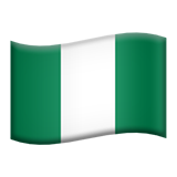 Flag: Nigeria on Apple iOS 11.2